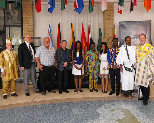 AfriCook Competition Winners in the Hall of Nations at Texas Tech University