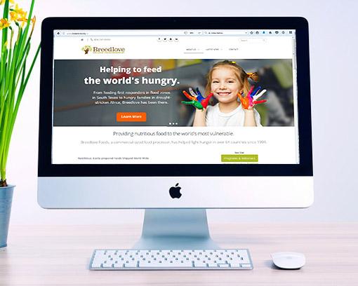 New Breedlove Website on a Desktop Computer
